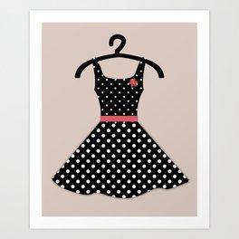 Retro dress  1 Art Print