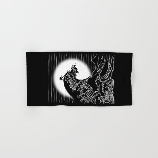 Waterbending (Black) Hand & Bath Towel