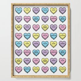 Baesic Candy Hearts - Mexican Food Serving Tray