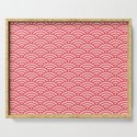 Japanese Sakura Koinobori Fish Scale Pattern by digitalhomestead