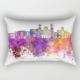 Limassol skyline in watercolor background Rectangular Pillow