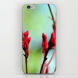 red bloom iPhone Skin