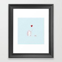 Hedgehog Love Framed Art Print