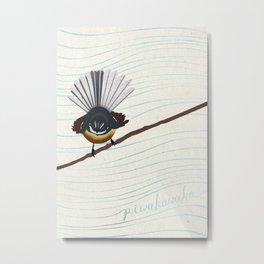 Piwakawaka Metal Print