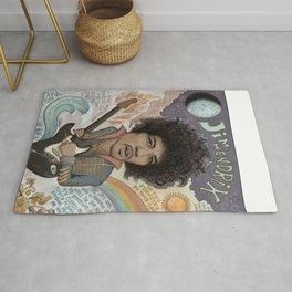Jimi Hendrix - 11 Moons Played Across The Rainbows Rug