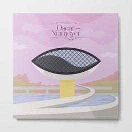 Curitiba - Museo Oscar Niemeyer Metal Print