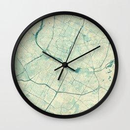 Austin Map Blue Vintage Wall Clock