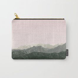 Mountains | Green + Pink Carry-All Pouch