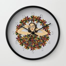 Croton Wreath Wall Clock