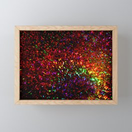 Fascination in gold-photograph of colorful lights Framed Mini Art Print