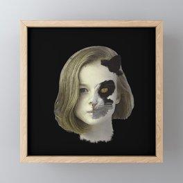 Cat human, fantasy Framed Mini Art Print