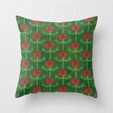 Spring Roses Pattern Throw Pillow