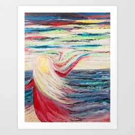 Universal Soul - abstract acrylic painting Art Print