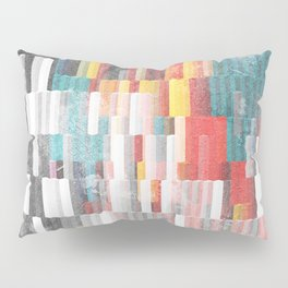 Vibrant Graffity on Black and White Geometry Pillow Sham