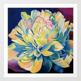 """Blue Floral"" Art Print"