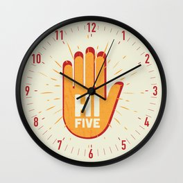 Hi five Wall Clock