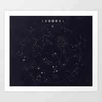constellations Art Prints featuring Constellations by Seana Seeto