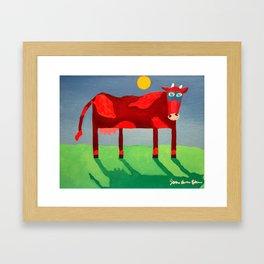 Udderly Confused - Funny Cow Art Framed Art Print