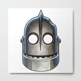 Giant Mask Metal Print