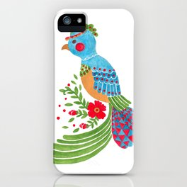 The Blue Quetzal iPhone Case