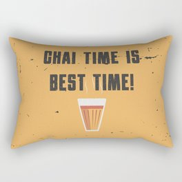 Funny Chai Tea Time Quote Rectangular Pillow