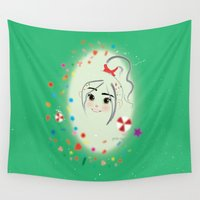 rush Wall Tapestries featuring Allure - Candy Rush by AmadeuxArt