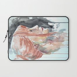 Redhead watercolor Laptop Sleeve