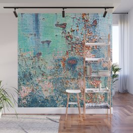 Abstract Rusty Metal Weathered Texture Wall Mural