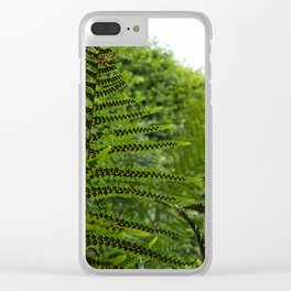Fern Fronds in Silhouette Clear iPhone Case