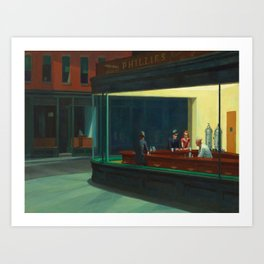 Edward Hopper's Nighthawks Art Print