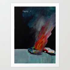 """"""".. Nearly three quarters of accidental car fires are due to vehicle defects."""" Art Print"""