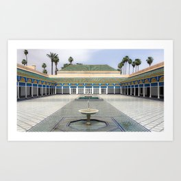 Palace in Morocco Art Print