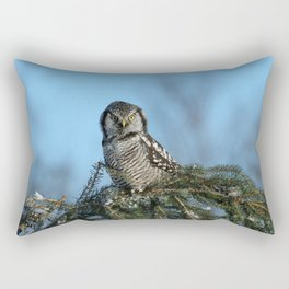 Atop a fallen branch Rectangular Pillow