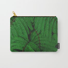 Layers Of Wet Green Fern Leaves Patterns In Nature Carry-All Pouch