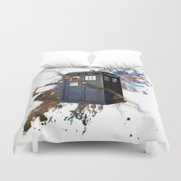 tardis Duvet Covers featuring tardis by erkamaj