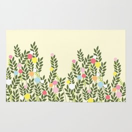 graphic flowers Rug