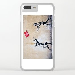Banksy, Ball Games Clear iPhone Case