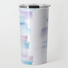11 | 181101 Watercolour Palette Abstract Art | Lines | Stripes | Travel Mug