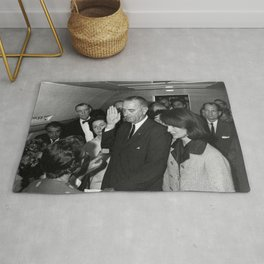 LYNDON JOHNSON TAKING THE OATH OF OFFICE 1963 Rug