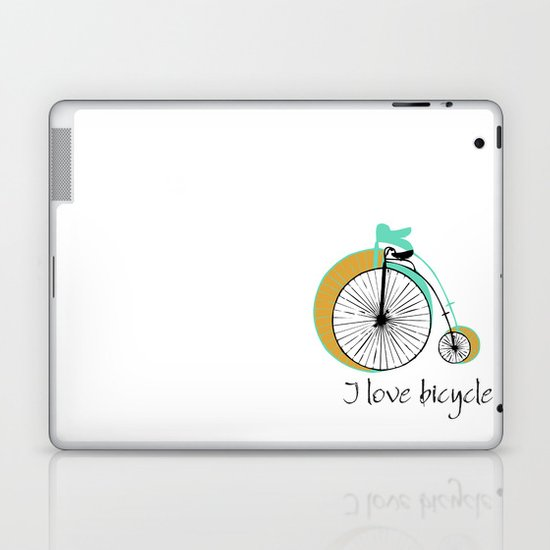 I love bicycle Laptop & iPad Skin
