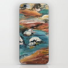 Water And Rock Expressionism Painting iPhone Skin