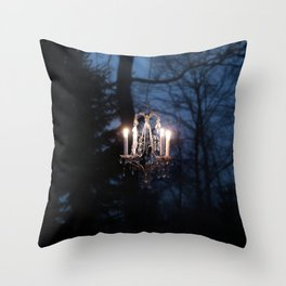 Chandelier in the Wild Throw Pillow