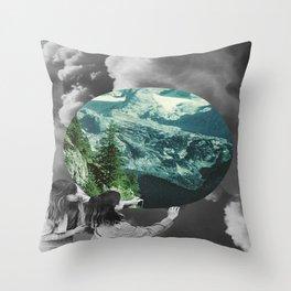 Green Melody Throw Pillow