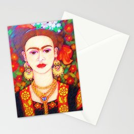 My other Frida Kahlo with butterflies Stationery Cards