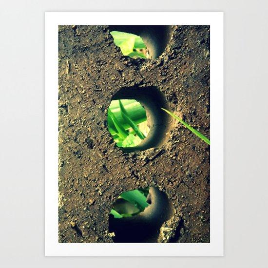 Peering Through Art Print