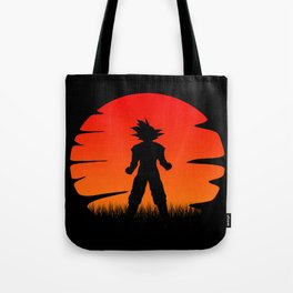 The sunset of super saiyan Tote Bag