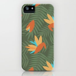 Vintage Florida Birds of Paradise Pattern iPhone Case