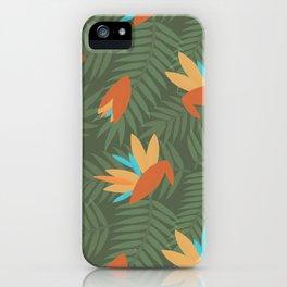 Vintage Florida Birds of Paradise Pattern iPhone Case