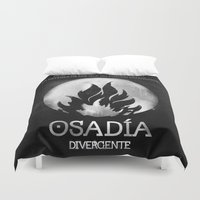 divergent Duvet Covers featuring Osadia by Diego Guzman