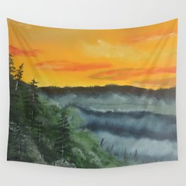 What lies beyond the valley Wall Tapestry